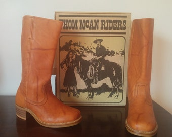 Vintage, New THOM McAN Leather Riding Boots Womens Size 10
