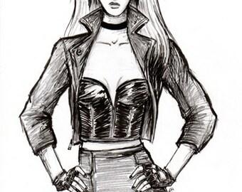 Black Canary - 6x8 print