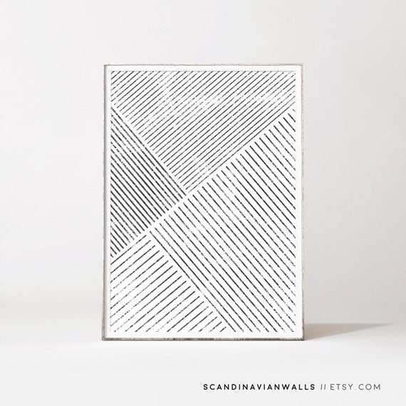 Minimalist wall art affiche scandinave geometric art for Minimalist wall art