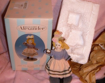 "rare-so cute MADAME alexander petite GRAY and CREME little shaver 5"" figurine-new in the box-"