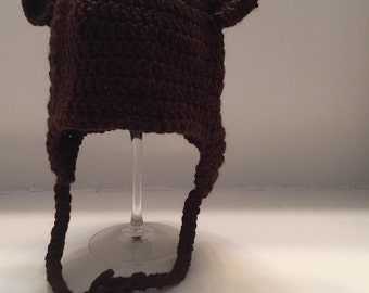 All Sizes - Crocheted Teddy Bear Beanie Toque Hat