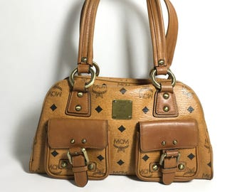 Authentic MCM Satchel bag. Mcm crossbody bag. Mcm handbag. Mcm small bag. Vintage Mcm bag.