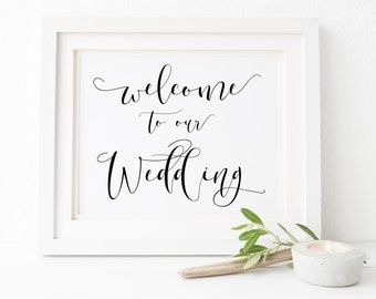 Welcome To Our Wedding Sign. Welcome Wedding Sign. Reception Sign. Printable Wedding Sign. Wedding Signage. Wedding Signs. Welocme Sign