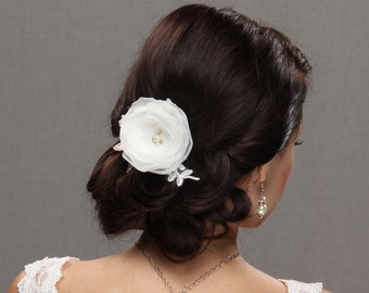 Wedding Hair Flower, Bridal Hair Flower, Fabric Flower, Hair Flower, Wedding Hair Comb, Wedding Fascinator, wedding headpiece