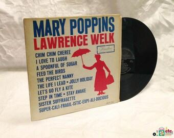 Mary Poppins, Lawrence Welk, 1964 LP, Soundtrack, Hamilton Records, Monophonic HLP 152, Vintage Vinyl Record Album
