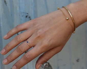 gold tube bangle, gold BANGLE, boho chic gold bangle, Gold plated silver bangle, dainty bracelet, Gold Bracelet