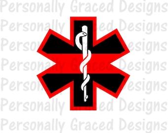 SVG, DXF, EPS Cut file Fire Safety Badge Red Line svg, Badge Svg, Fireman svg, silhouette cut file, cameo file, Cricut File, Firefighter svg