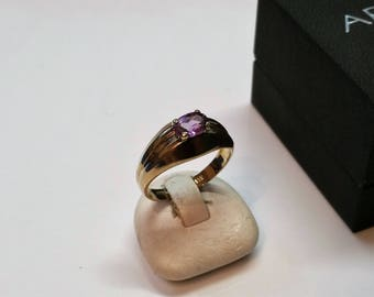 Ring gold 333 GR327 Amethyst vintage noble simply