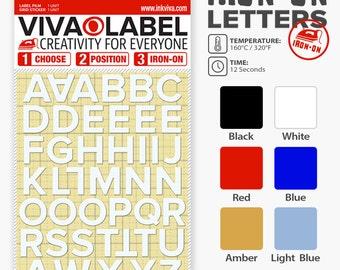 Inkviva 3D Iron On Letters Alphabet Heat Transfer Label Name Appliqué Set -Half Inch -12mm