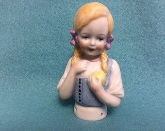 "Half Doll Pincushion Doll Called ""LISA"" German Reproduction"""