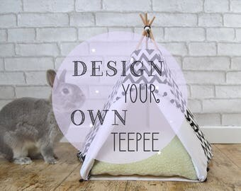 Rabbit bed bunny teepee guinea pig teepee - design your own teepee