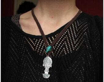 SALES !!!Turquoise Tumi - Tribal - Ethnic - Boho - Gypsy - Travelling - Macrame - Design - Peru - Amulet - Knife