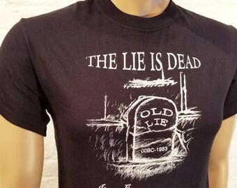 NA -The Lie Is DEAD - T-shirt - S-5X -Black - 100% cotton