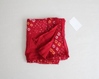 indian scarf | cotton gauze scarf | red scarf