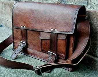 Mens Leather Messenger Bag. Leather Briefcase. Men's Messenger Bag. Man Bag. Leather Messenger Bag. Mens Bags.