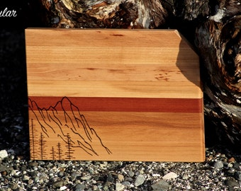 Dog-Eared Cutting Board with Mountain in Two sizes