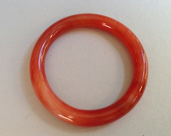 Carnelian Glass Bangle Bracelet