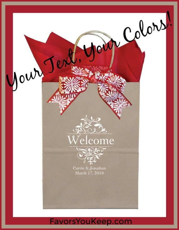 Welcome Guest Gift Bag Personalized Wedding Guest Gift Bag Custom ...