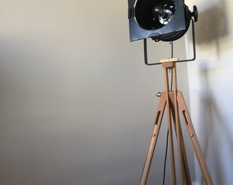 Genuine Vintage Theatre Tripod Lamp