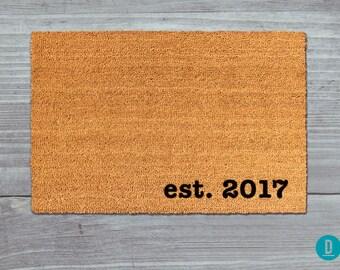 Est. Doormat, Est. Door Mat, Est. Welcome Mat, Established Doormat, Established Door Mat, Established Welcome Mat, Est Doormat, Est Door Mat