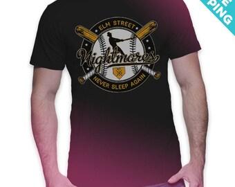 Elm Street Nightmares - A Nightmare on Elm Street / Horror / Baseball T-Shirt