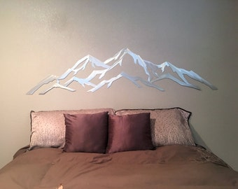 Metal mountain range of Aspen Mountain / Modern Art / Aspen highlands / Skiing Decor / Snowboarding art / outdoors artwork / outside art