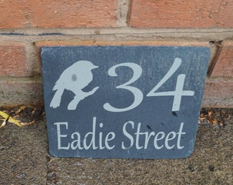 Slate house sign, shed sign,stable sign, personalised slate sign, bespoke house sign, house numbers,