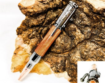 Bolt Action Bullet Pen in Gunmetal, Rifle Pen, Gift for Him, Hunting Gift, Gifts for Hunters, Gun Gifts, Military Gifts, Valentines Day Gift