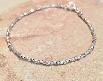 Sterling silver bracelet, Hill Tribe silver bracelet, sundance style bracelet, simple bracelet, dainty bracelet, gift for her small bracelet