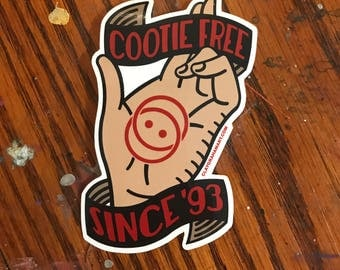 Cootie Shot vinyl sticker
