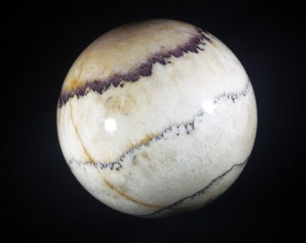LARGE PICASSO (Picture) JASPER Sphere Natural Stone Hand Carved Gemstone Sphere [1]