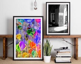 Venice Photography, Murano Glass Balloons, Colorful Wall Art, Balloons, Bright Vivid Art, Office Art, Abstract Art, Home Decor, Nursery Art