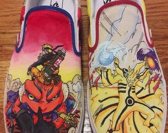 Custom Naruto Painted Shoes
