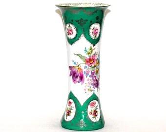 Vintage Gilded Floral Vase