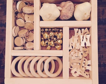 Loose Parts / Tinker Tray/ Open-ended learning / Reggio Emilia / Montessori / Waldorf / Natural Materials