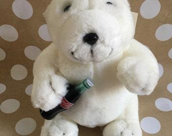 Coca-Cola - Polar Bear Plush Stuffed Animal ** Official Coke Merchandise