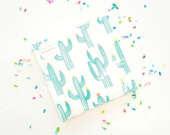 Meri Meri cactus napkins (20). Cactus party supplies. fiesta party napkins. fiesta napkins. cactus party. fiesta dessert plates. fiesta