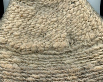 WOOL HAT Hand spun, hand crocheted, sized medium, coopworth romney sheep
