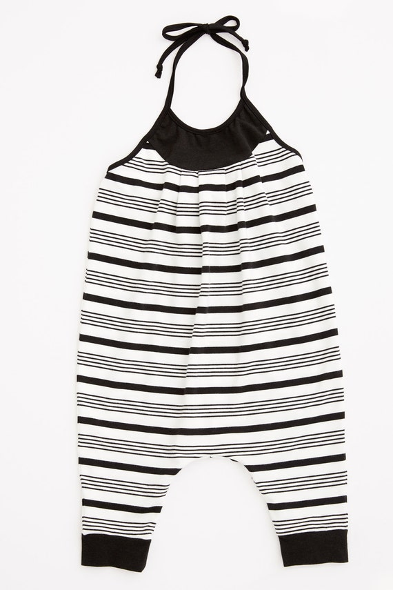 TROTINETTE - spaghetti strap one pieces, bodysuit, jumpsuit, pantsuit - black and white striped