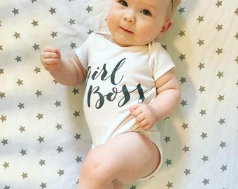 GIRL BOSS ONESIE, Baby Onesie, Girl Onesie, Cute Onesie, Bodysuit, Newborn Onesie, Baby Clothing, Newborn Clothing, Baby Gift, Cute Bodysuit