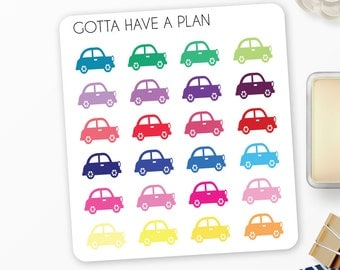 Planner Stickers Car Icon Picture for Erin Condren, Happy Planner, Filofax, Scrapbooking