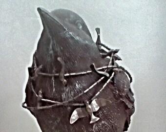Silver Native American Bird Fetish Necklace