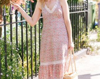 Vintage St. Michael floral maxi dress
