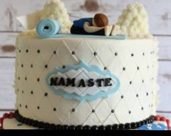 Namaste, Yoga, Yogi, Fondant Cake Topper Set