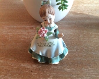 Lefton Janaury Girl Figurine