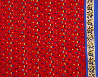 "Dress Fabric, Tribal Print, Red Fabric, Home Decor Fabrc, Sewing Decor, Designer Fabric, 43"" Inch Rayon Fabric By The Yard ZBR79"