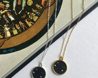 GEMINI NECKLACE. zodiac jewellery - gemini constellation necklace - gemini zodiac necklace - gemini star sign necklace - zodiac - astrology