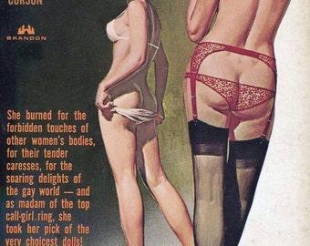 Lesbian pulp vintage art print Executive Lesbian — pulp paperback cover repro