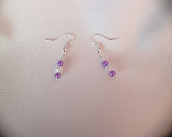 Pretty Lilac Purple Beaded Dangle and Drop Earrings - Perfect for Special Occasions and for Gifts!