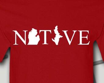 Michigan, Michigan Gifts, Michigan SVG, Michigan Shirt, Michigan t shirt, Michigan tshirt, native michigan, Great Lakes Shirt, Michigan Art